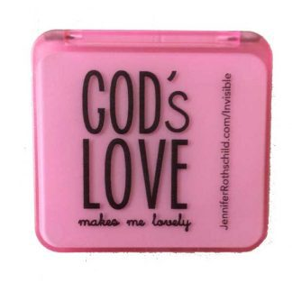 Pink Magnifying Mirror Compact