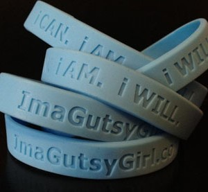 gutsy girl wristband