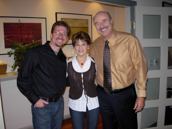 "Jennifer, with both of the ""Dr. Phil's"" in her life."