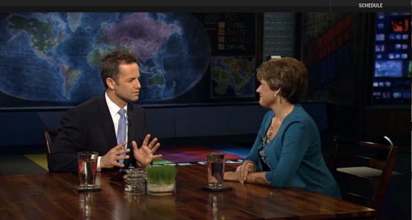 Jennifer and Kirk on the Glenn Beck Program. Snapshot from The Blaze TV.