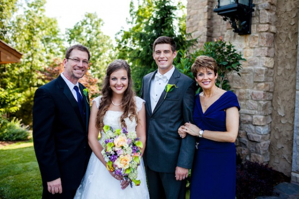 Me and my Dr. Phil, with Caroline and her Clayton. One of the happiest days of my life!
