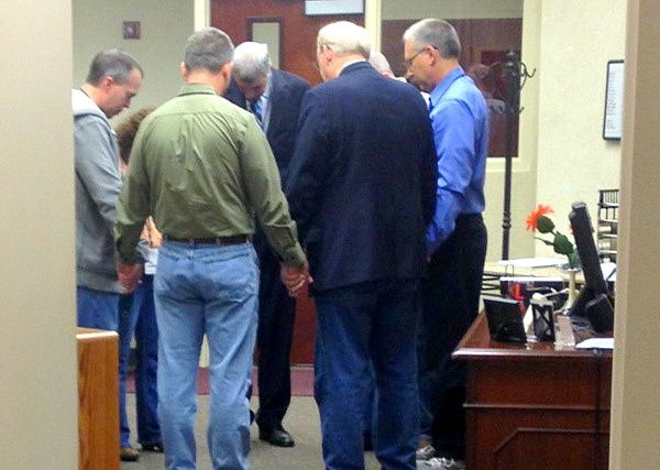 We caught a glimpse of the faith-filled men praying over FGF-Evansville. God heard those prayers!