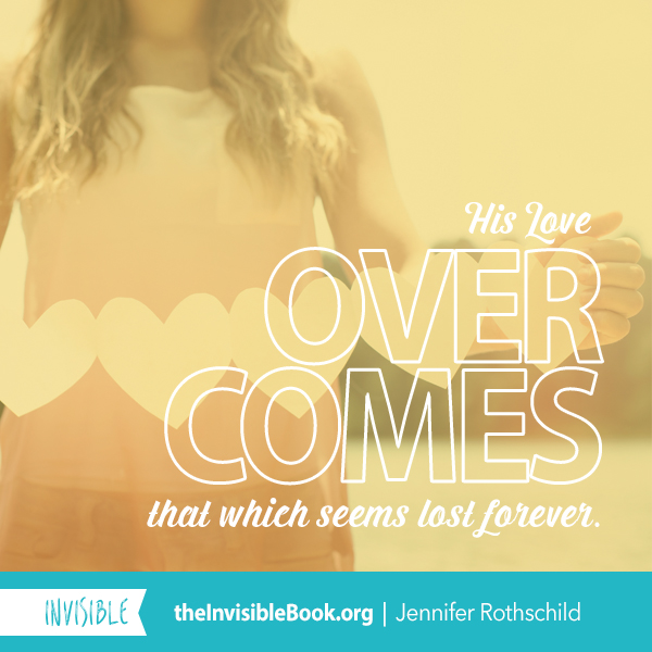 His love overcomes that which seems lost forever. TheInvisibleBook.org