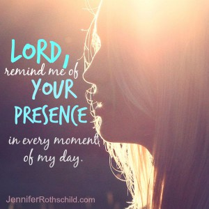 Lord, remind me