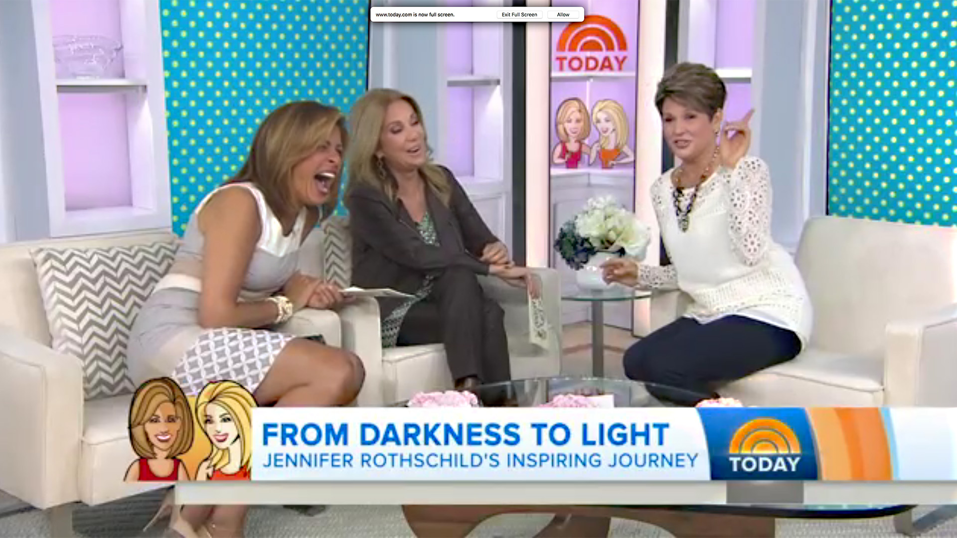Jennifer Sharing Laughs and Faith with Kathie Lee and Hoda