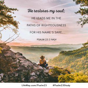 Psalm 23 shareable image