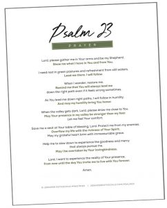 photograph about Psalm 23 Printable identified as Cost-free Printables against Psalm 23: The Shepherd With Me