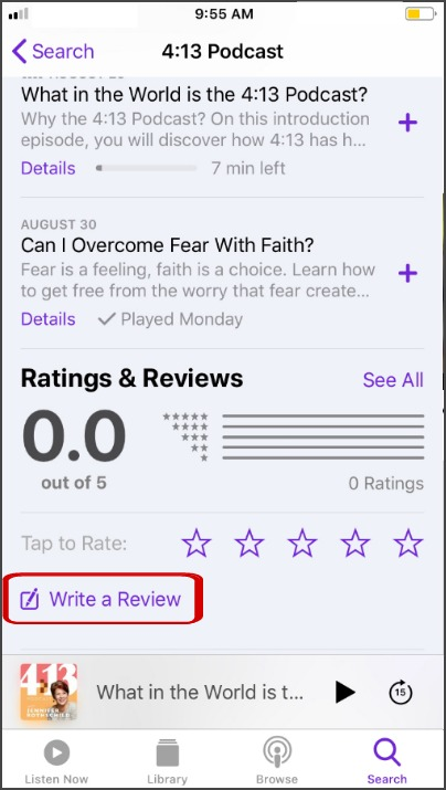 podcast review step 4