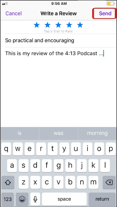 podcast review step 6
