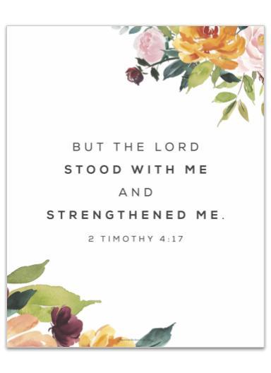 2 Timothy 4:17 printable image