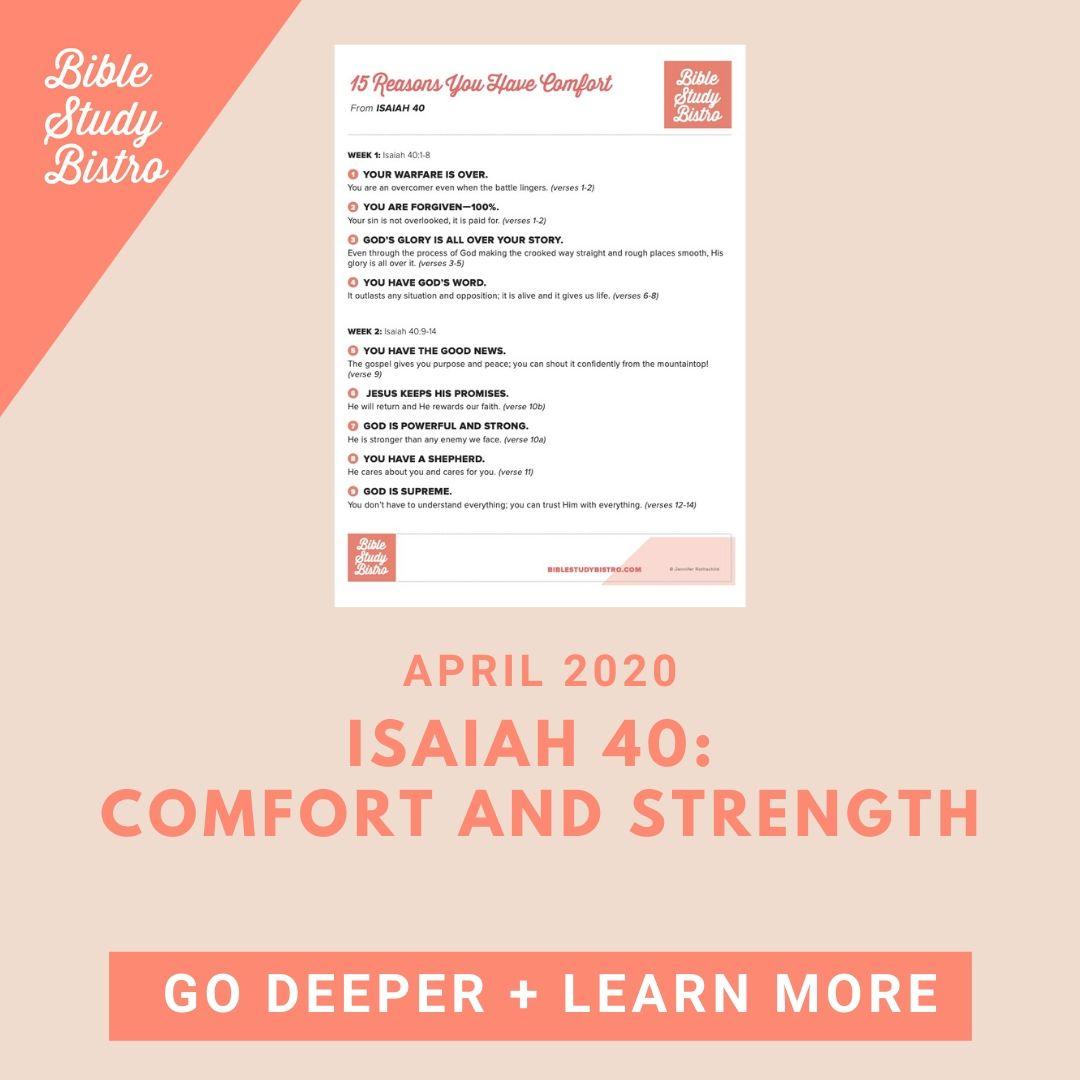 bistro Isaiah 40 placeholder